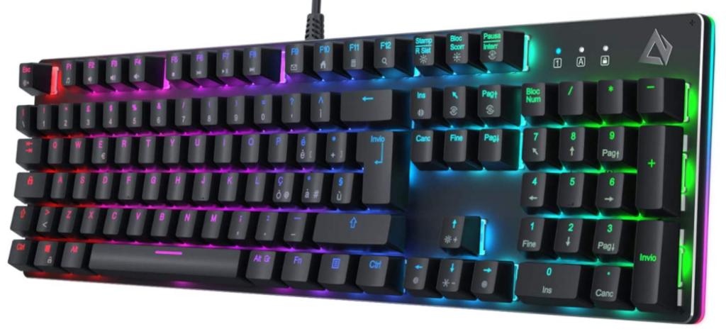 AUKEY KM-G12 Tastiera da Gaming Meccanica