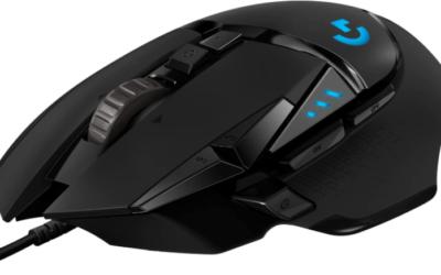 Logitech G502 HERO Mouse Gaming Sensore HERO 25K, 25.600 DPI, RGB, Pesi Regolabili