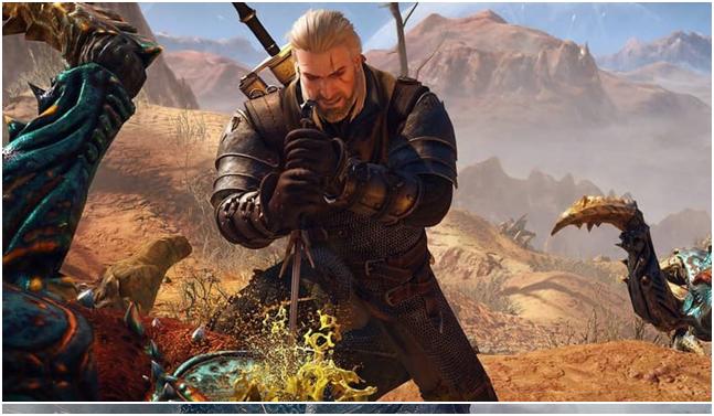 La trama del gioco inizia con Geralt,