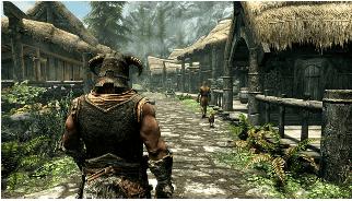 Skyrim mantiene il tradizionale stile di gioco della serie The ElderScrolls