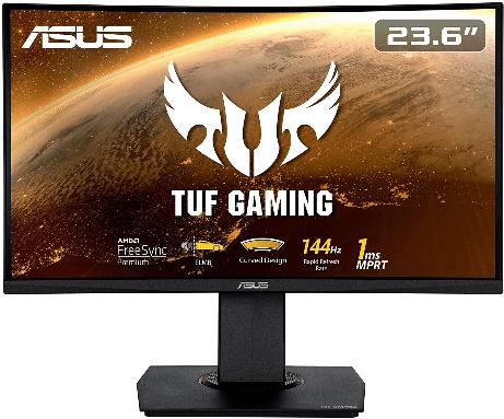 ASUS TUF Gaming VG24VQ schermo curvo gaming
