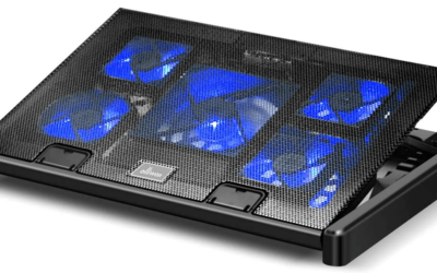 Olliwon Base Raffreddamento Pc Portatile, 5 Ventilatori