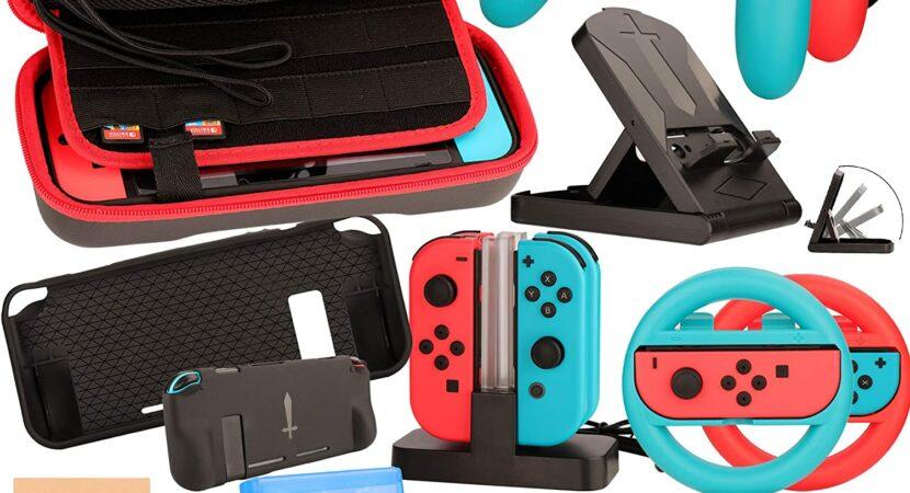 Kit Accessori per Nintendo Switch - Custodia Pellicola Protettive